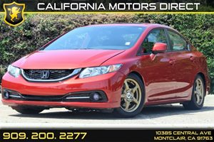 2013 Honda Civic Sdn Si Carfax Report 2-Tier Instrument Panel WRed Backlit Gauges -Inc Tachomet