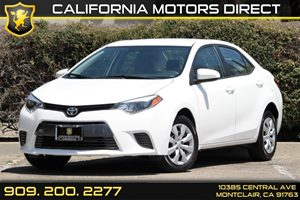 2015 Toyota Corolla LE Carfax 1-Owner - No Accidents  Damage Reported to CARFAX 5 Person Seating