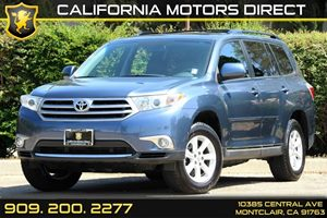 2013 Toyota Highlander  Carfax 1-Owner 35 Tft Multi-Info Display -Inc Customizable Settings