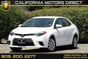 2014 Toyota Corolla LE Carfax 1-Owner 5 Person Seating Capacity 60-40 Folding Bench Front Facing