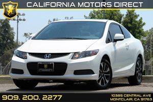 2013 Honda Civic Cpe EX Carfax 1-Owner  Taffeta White - - - - - - - --18347Per Mont