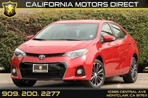 2014 Toyota Corolla S Carfax Report - No AccidentsDamage Reported 5 Person Seating Capacity Air