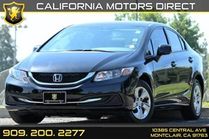 2013 Honda Civic Sdn LX Carfax 1-Owner - No AccidentsDamage Reported Air Conditioning  AC Aud
