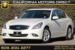 2012 Infiniti G37 Sedan Journey Carfax 1-Owner - No AccidentsDamage Reported Audio  Satellite R