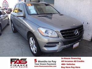 2015 MERCEDES ML350 SUV Carfax 1-Owner - No Accidents  Damage Reported to CARFAX  Steel Gray M