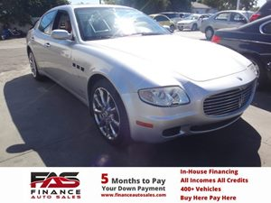 2008 Maserati Quattroporte  Carfax Report - No Accidents  Damage Reported to CARFAX  Moon Silv