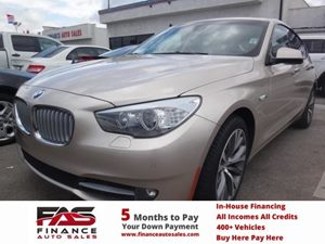 2010 BMW 5 Series Gran Turismo 550i Carfax 1-Owner - No Accidents  Damage Reported to CARFAX