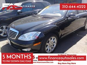 2008 MERCEDES S550 Sedan Carfax 1-Owner - No Accidents  Damage Reported to CARFAX 8 Cylinders A