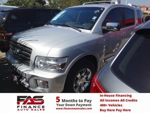 2006 Infiniti QX56  Carfax Report - No Accidents  Damage Reported to CARFAX  Silver Graphite