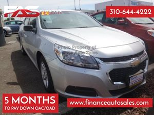 2014 Chevrolet Malibu LS Carfax 1-Owner - No Accidents  Damage Reported to CARFAX 4 Cylinders A