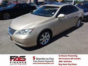 2007 Lexus ES 350  Carfax 1-Owner - No Accidents  Damage Reported to CARFAX  Golden Almond Met