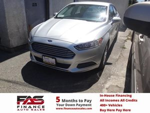 2013 Ford Fusion SE Carfax 1-Owner - No Accidents  Damage Reported to CARFAX  Ingot Silver  N