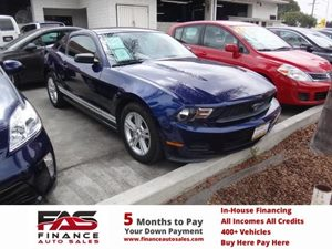 2010 Ford Mustang V6 Carfax Report - No Accidents  Damage Reported to CARFAX  Grabber Blue  N
