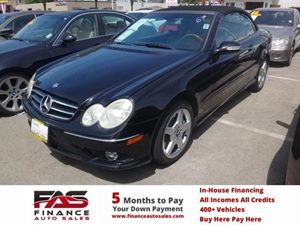 2006 MERCEDES CLK500 Cabriolet Carfax Report - No Accidents  Damage Reported to CARFAX  Black