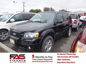 2007 Ford Escape Hybrid Carfax Report - No Accidents  Damage Reported to CARFAX  Black  NOTIC