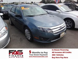 2011 Ford Fusion SE Carfax Report - No Accidents  Damage Reported to CARFAX  Green  NOTICE