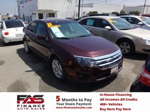2011 Ford Fusion SE Carfax 1-Owner - No Accidents  Damage Reported to CARFAX  Burgundy  NOTIC