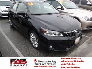 2012 Lexus CT 200h  Carfax 1-Owner - No Accidents  Damage Reported to CARFAX  Black  NOTICE