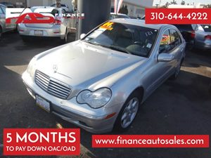 2004 MERCEDES C320 Sedan Carfax Report 6 Cylinders Air Conditioning  AC Audio  AmFm Stereo