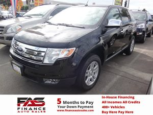 2008 Ford Edge SEL Carfax Report - No Accidents  Damage Reported to CARFAX  Black  Rates as l