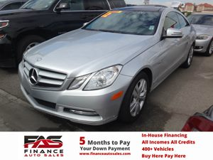 2012 MERCEDES E350 Coupe Carfax 1-Owner - No Accidents  Damage Reported to CARFAX  Iridium Sil