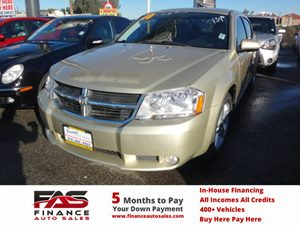 2010 Dodge Avenger RT Carfax Report - No Accidents  Damage Reported to CARFAX  White Gold  N