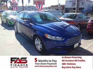 2013 Ford Fusion SE Carfax 1-Owner - No Accidents  Damage Reported to CARFAX  Deep Impact Blue