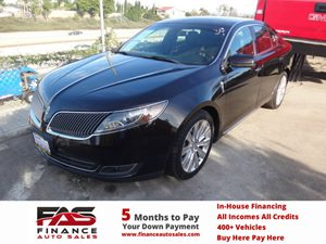 2013 Lincoln MKS EcoBoost Carfax 1-Owner - No Accidents  Damage Reported to CARFAX  Tuxedo Bla