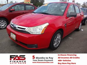 2008 Ford Focus SE Carfax 1-Owner - No Accidents  Damage Reported to CARFAX  Vermillion Red