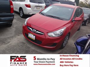 2014 Hyundai Accent GS Carfax 1-Owner - No Accidents  Damage Reported to CARFAX  Boston Red Pe