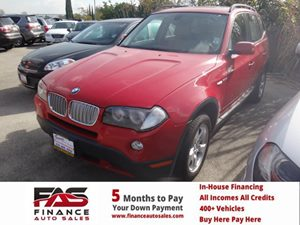 2008 BMW X3 30si Carfax Report - No Accidents  Damage Reported to CARFAX  Crimson Red  Rates