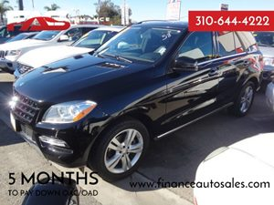 2013 MERCEDES ML350 SUV Carfax 1-Owner - No Accidents  Damage Reported to CARFAX  Black  Rate