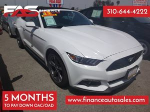 2015 Ford Mustang V6 Carfax 1-Owner - No Accidents  Damage Reported to CARFAX 2 12V Dc Power Out