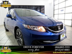 2013 Honda Civic Sdn EX Carfax 1-Owner  Dyno Blue Pearl  Normal  0          false  false  fals