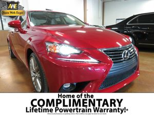 2015 Lexus IS 250  Carfax 1-Owner 60-40 Folding Bench Front Facing Fold Forward Seatback Rear Sea