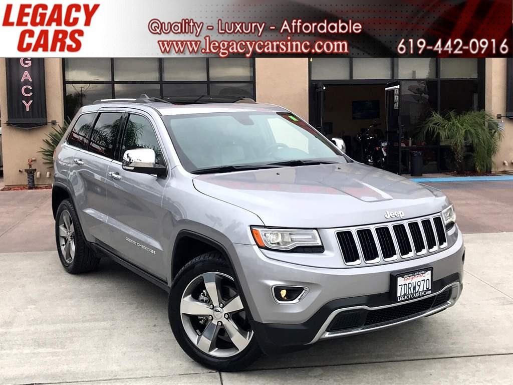 Jeep Cherokee Third Row >> Sold 2014 Jeep Grand Cherokee Limited W Nav Pano Sunroof 3rd Row In