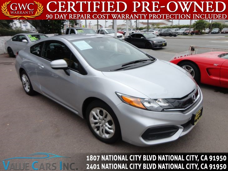 Honda National City >> Sold 2015 Honda Civic Coupe Lx In National City