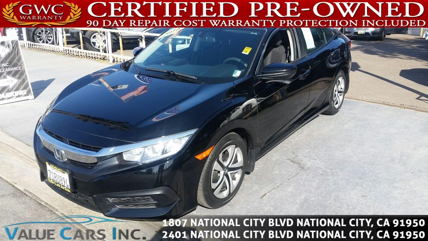 Honda National City >> Sold 2016 Honda Civic Sedan Lx Sedan 4d In National City