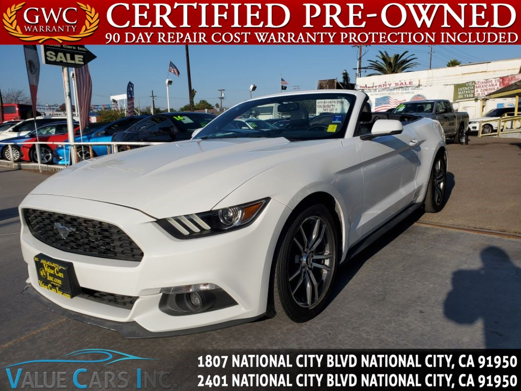 2016 Ford Mustang EcoBoost Premium Convertible 2D