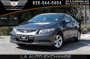2013 Honda Civic Cpe LX Carfax 1-Owner - No AccidentsDamage Reported 2-Speed Intermittent Windsh