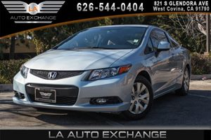 2012 Honda Civic Cpe LX Carfax Report 4 Cylinders Air Conditioning  AC Audio  AmFm Stereo