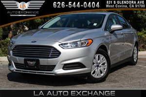 2014 Ford Fusion S Carfax 1-Owner 2 Seatback Storage Pockets 4 Cylinders Audio  AmFm Stereo