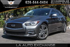 2014 INFINITI Q50 Premium Carfax 1-Owner - No AccidentsDamage Reported 6 Cylinders Chrome Grill