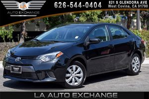 2015 Toyota Corolla LE Carfax 1-Owner 4 Cylinders Air Conditioning  AC Audio  Cd Player Cle