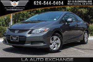 2013 Honda Civic Cpe LX Carfax 1-Owner 4 Cylinders Body-Colored Bumpers Body-Colored Pwr Mirror