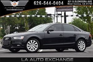 2013 Audi A4 Premium Carfax 1-Owner - No AccidentsDamage Reported 4-Spoke Multifunction Leather