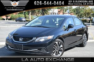 2013 Honda Civic Sdn EX Carfax 1-Owner  Crystal Black Pearl 18996 Per Month -ON APPROVED CRE