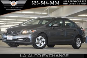 2013 Honda Civic Sdn LX Carfax 1-Owner 2-Speed Intermittent Windshield Wipers 2-Tier Instrument