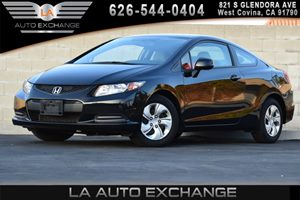 2013 Honda Civic Cpe LX Carfax 1-Owner 4 Cylinders Air Conditioning  AC Body-Colored Bumpers