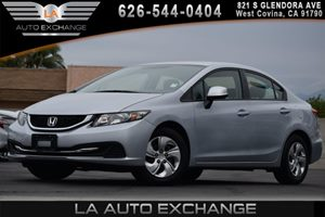 2013 Honda Civic Sdn LX Carfax 1-Owner - No AccidentsDamage Reported 2-Speed Intermittent Windsh